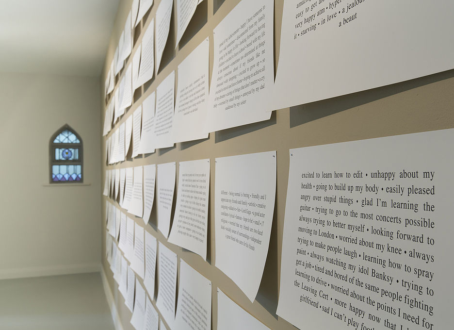 Text Plaques, Installation View